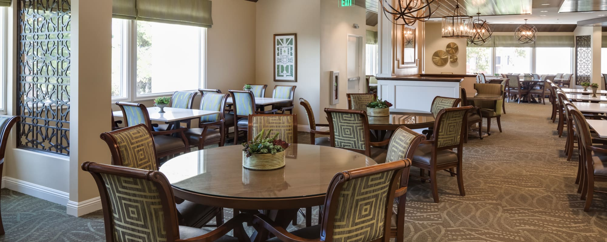 Dining tables for our residents at The Montera in La Mesa, California