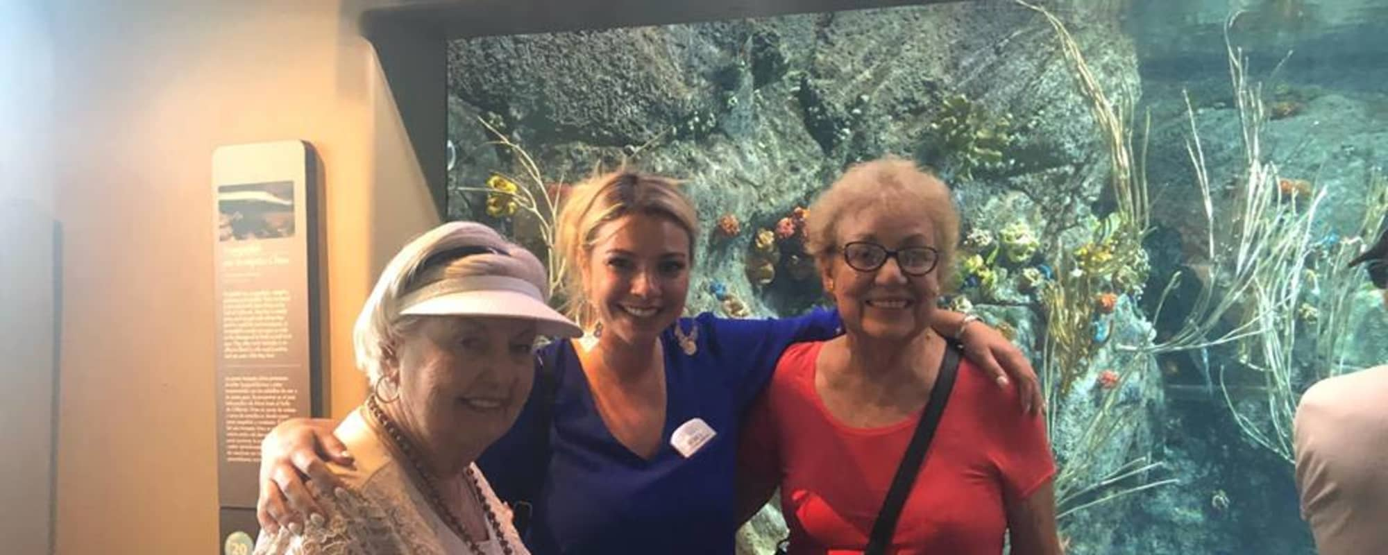 Aquarium at Huntington Terrace in Huntington Beach, California