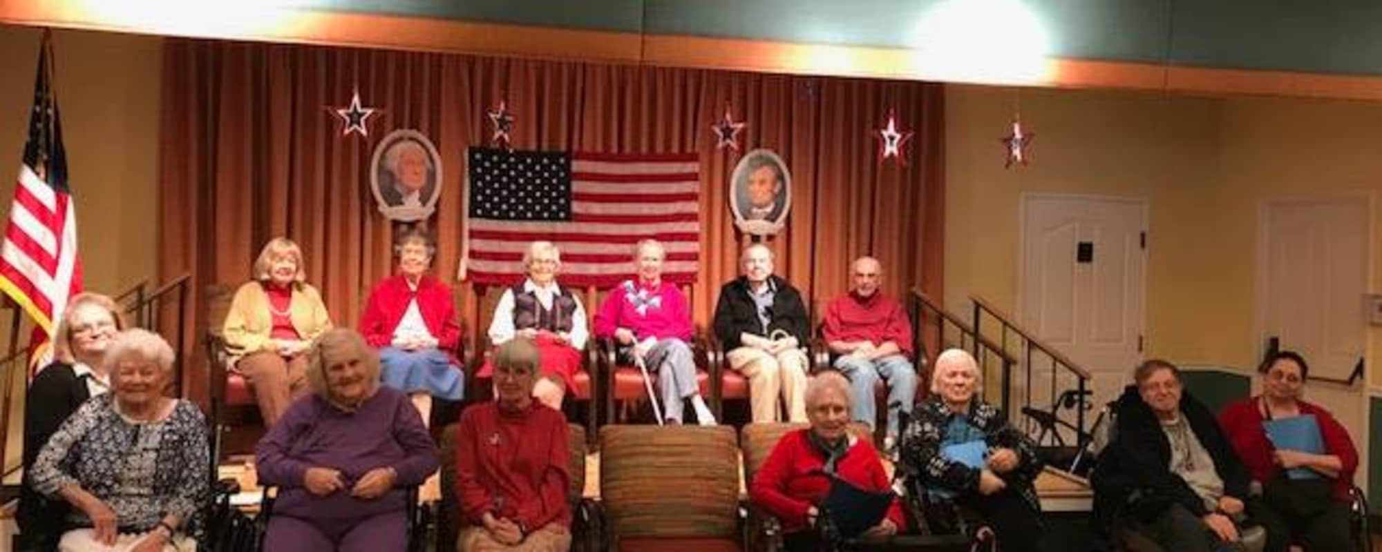 Patriotic seniors at Cottonwood Creek in Salt Lake City, Utah