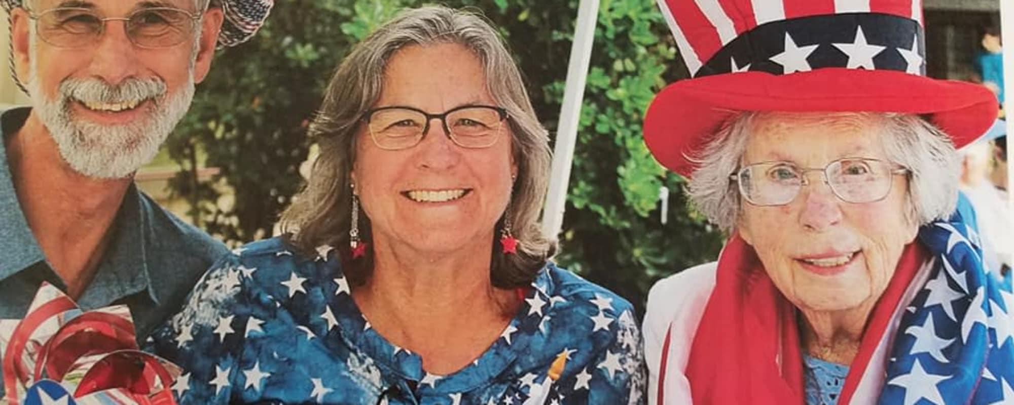 4th of July at Oakmont Gardens in Santa Rosa, California