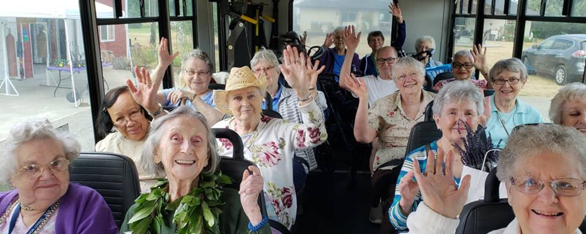 Bus Ride at The Firs in Olympia, Washington