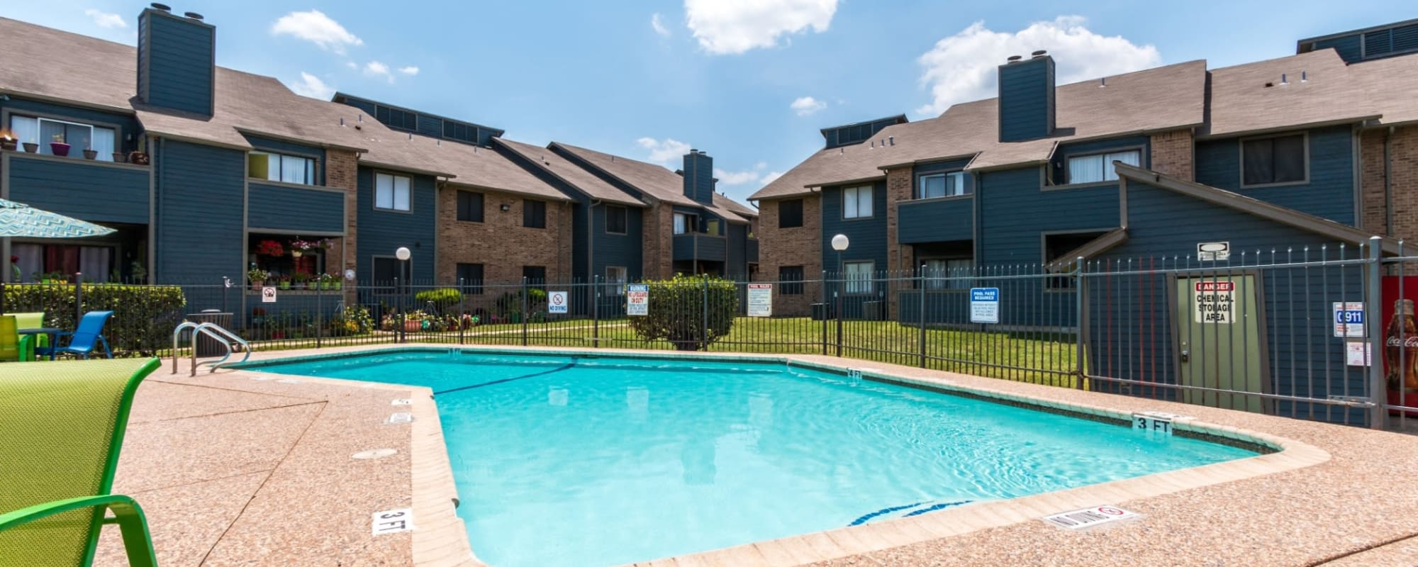 Community pool at Northchase Apartments in Austin, Texas