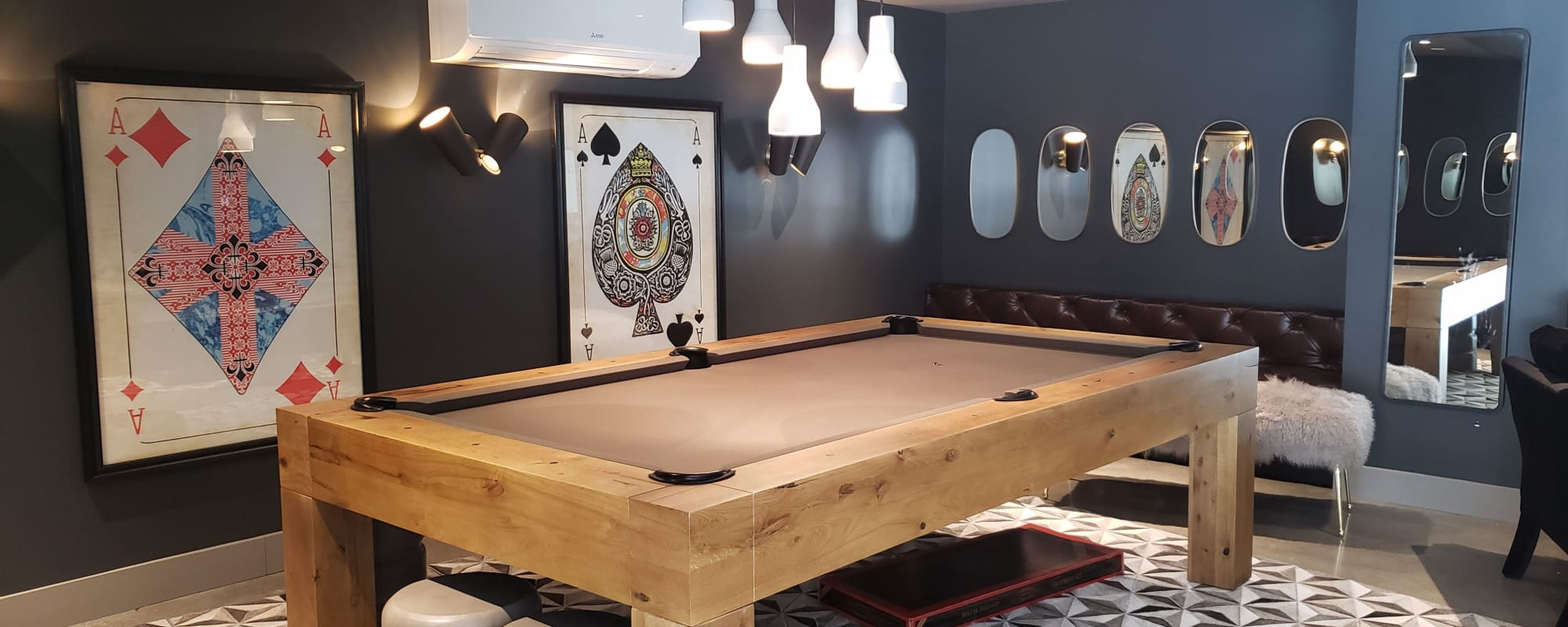 Billiards table for The Moran residence and guests