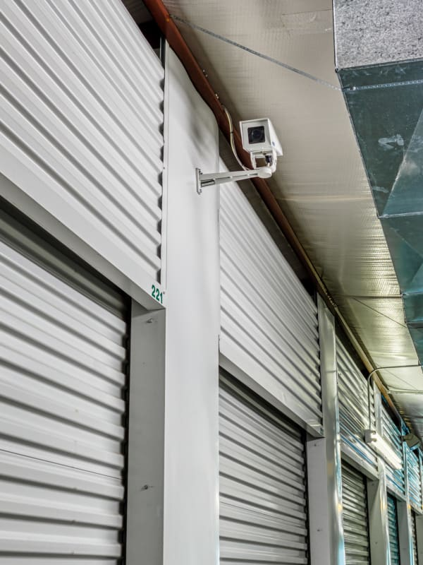 Video surveillance over climate-controlled storage in Greenville, Texas at Devon Self Storage