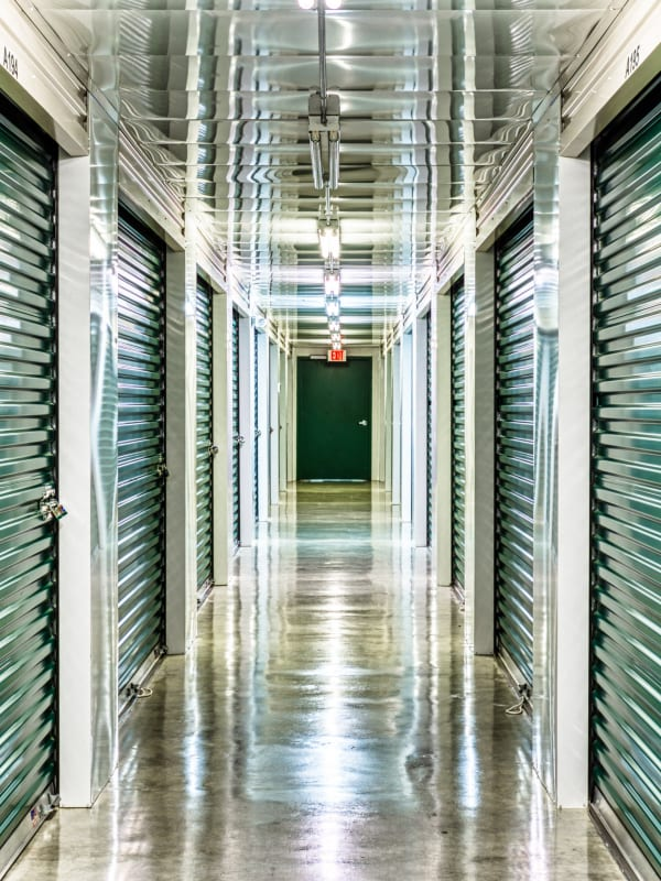 Climate controlled storage units at Devon Self Storage in Sherman, Texas