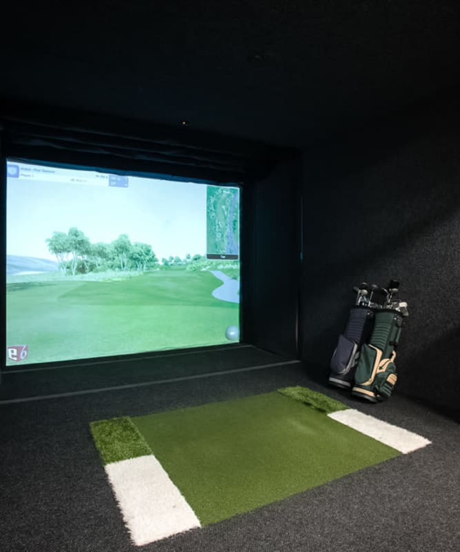 A golf simulator for resident use at The Metropolis in New York, New York