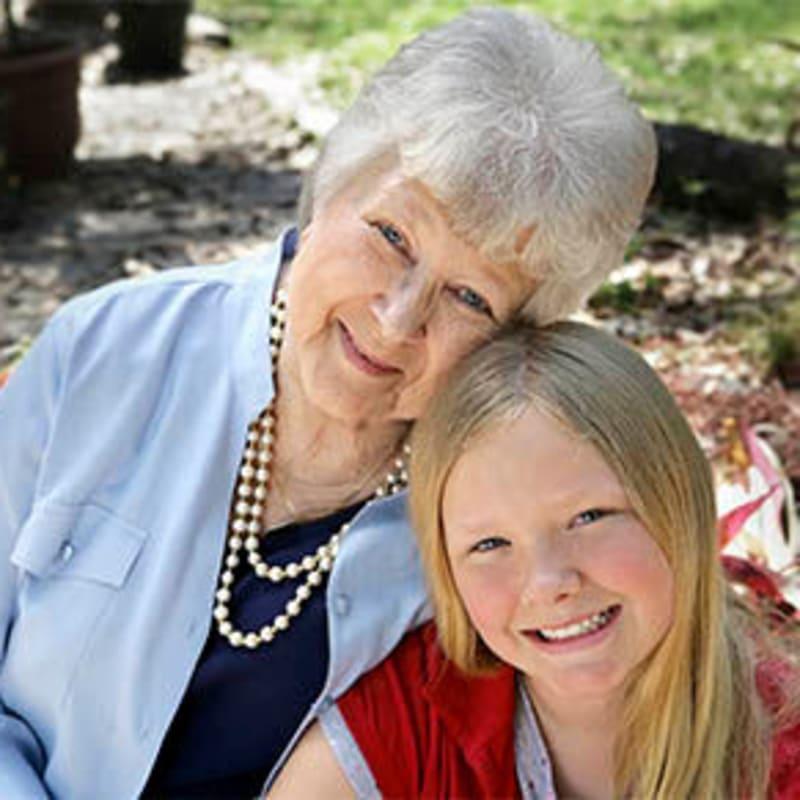 Grandmother and granddaughter at Inglenook At Brighton in Brighton, Colorado