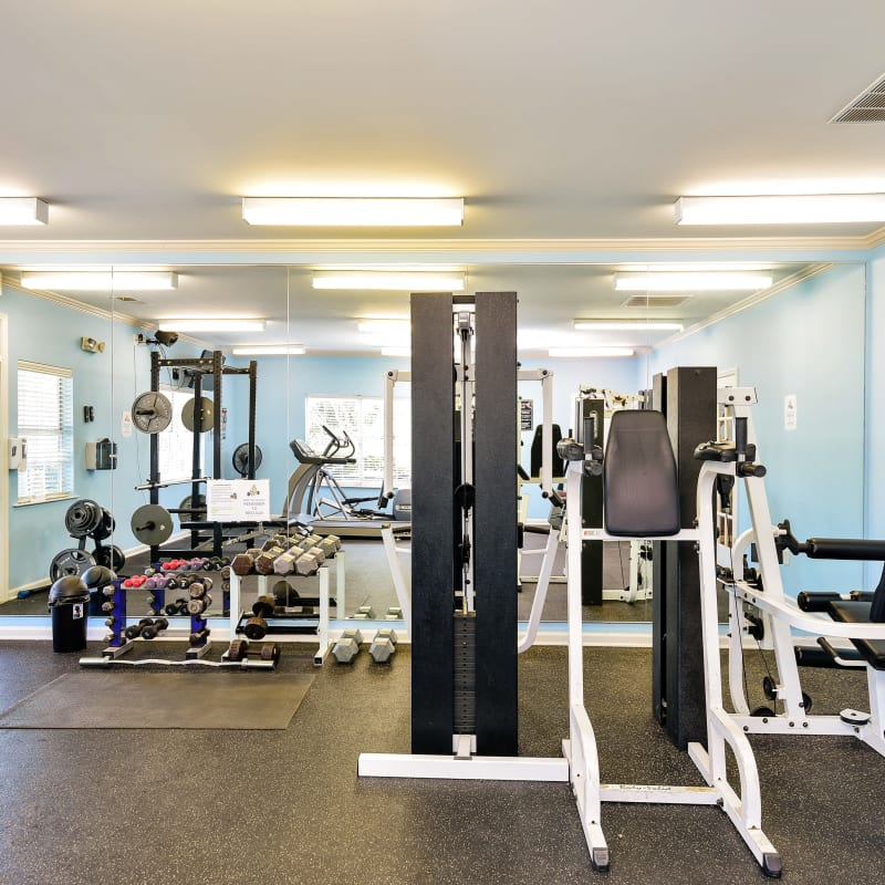 Fitness center at Hunter's Run in Macon, Georgia