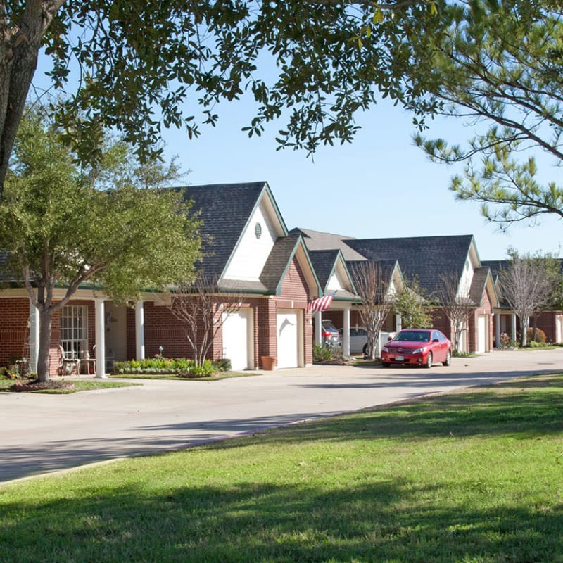 Beautifully appointed independent living cottages at Village on the Park Steeplechase in Houston, Texas
