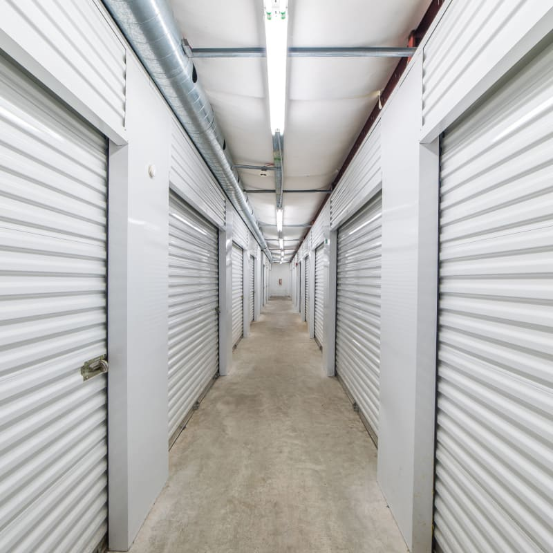 Indoor storage units in a variety of sizes at Sound Storage in Port Orchard, Washington