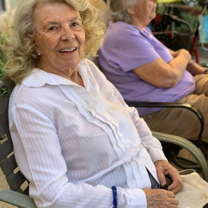 Resident relaxing at the salon at Golden Pond Retirement Community in Sacramento, California