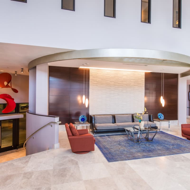 Modern Lobby with Community Seating at  in Silver Spring, MD