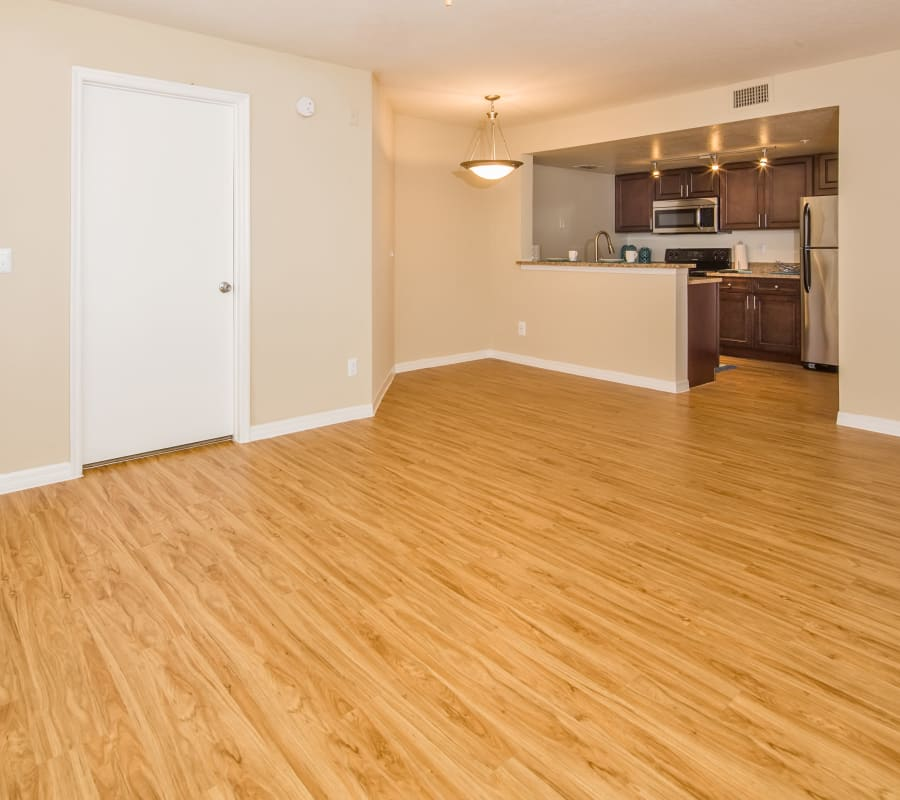 Beautiful hardwood floors at Meadow Brook Preserve in Naples, Florida