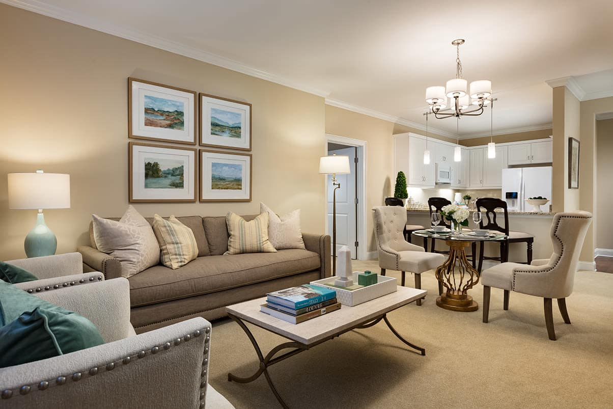Different floor plans at the senior living community in Raleigh