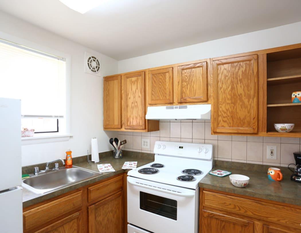 Modern kitchen at Bishop - Stratford Court Apartments in Stratford, New Jersey