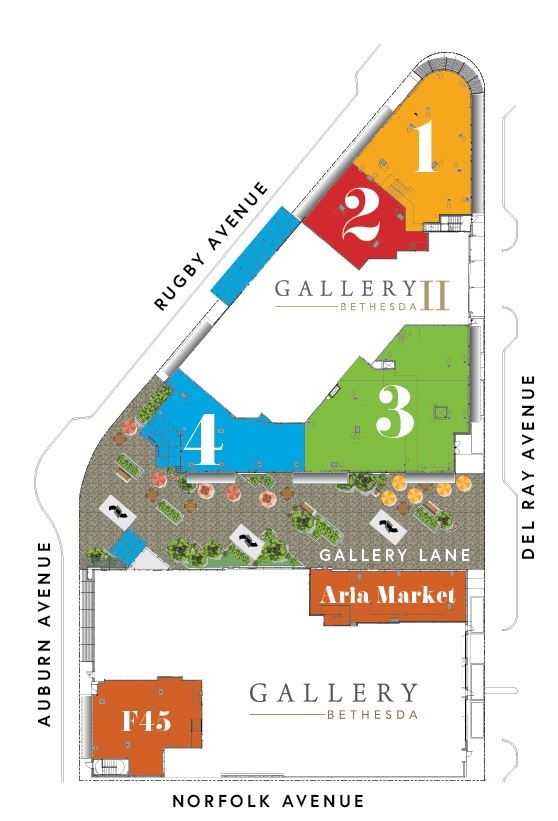 Gallery Bethesda II site plan