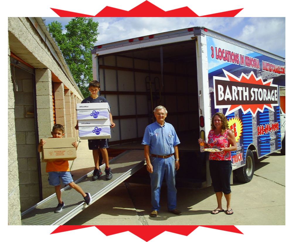 Moving truck at Barth Storage - 60th Ave in Kenosha, Wisconsin