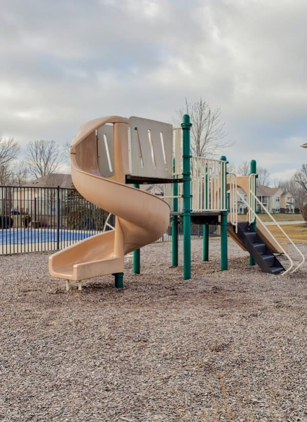 Outdoor playground at Pheasant Run in Indianapolis, Indiana