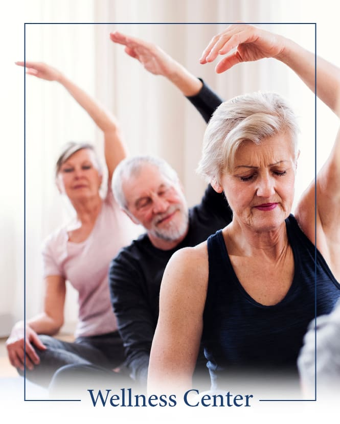 A wellness center is offered at The Claiborne at Brickyard Crossing in Summerville, South Carolina.