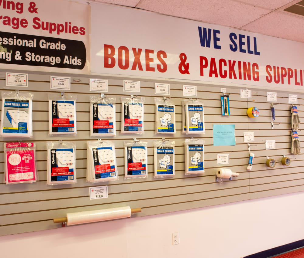 Packing supplies for sale at American Self Storage in Long Island City, New York