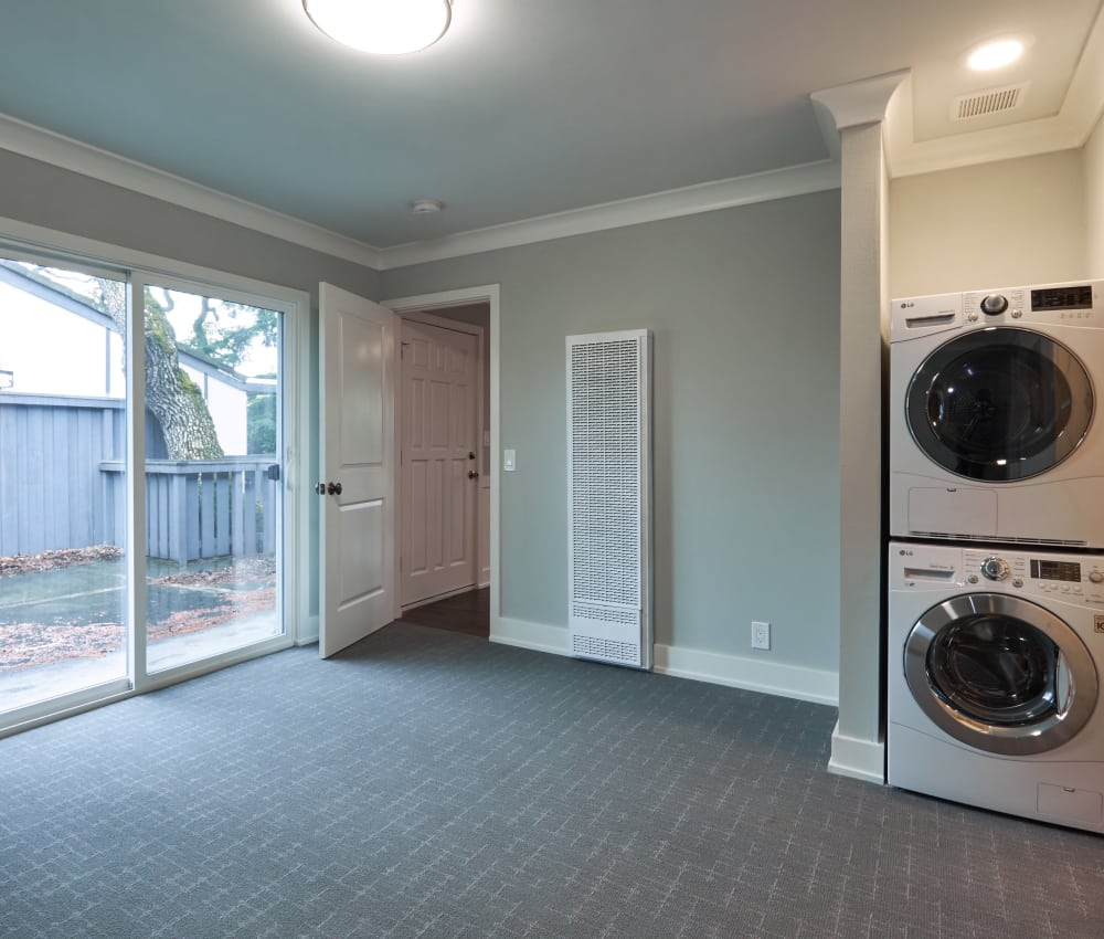 In-home washer and dryer at Ladera in Lafayette, California