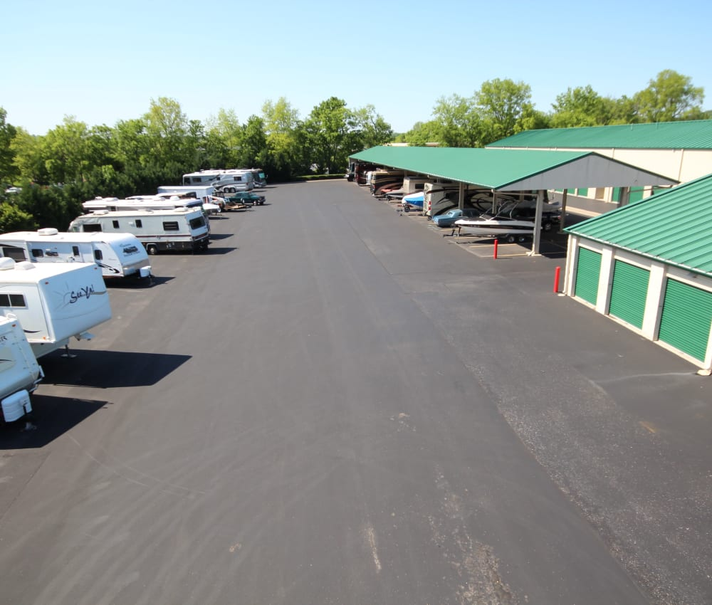Large parking area at Mallory Station Storage in Franklin, Tennessee