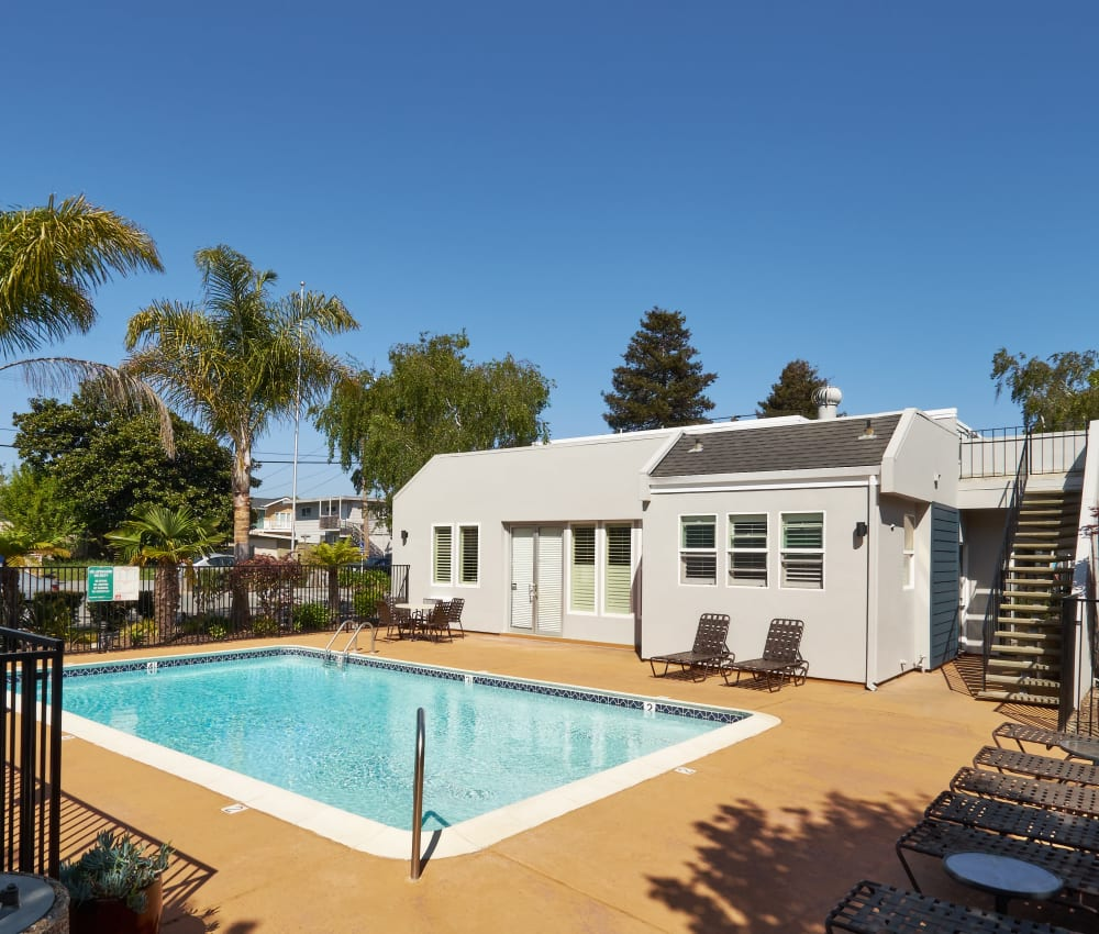 Swimming pool at Breakwater Apartments in Santa Cruz, California