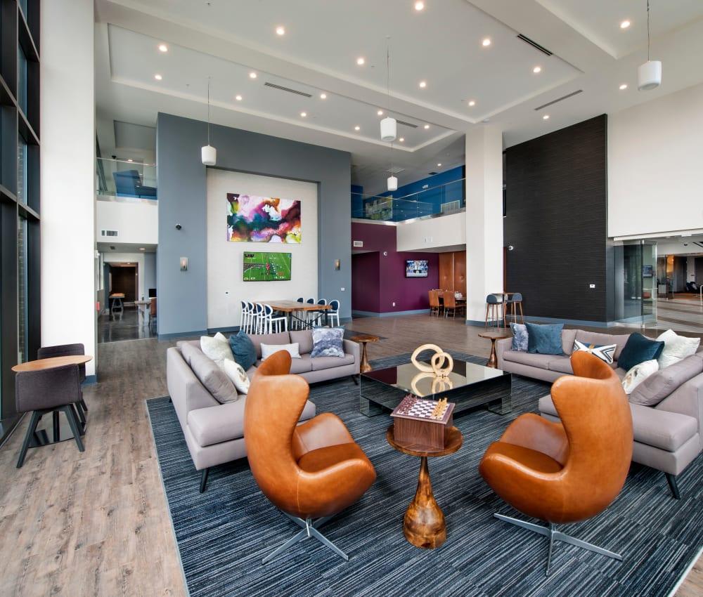 Fabulous interior of City View Vinings' clubhouse in Atlanta, Georgia