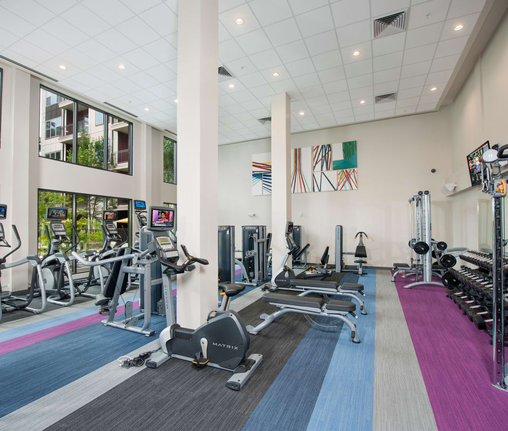 State-of-the-art fitness center at City View Vinings in Atlanta, Georgia