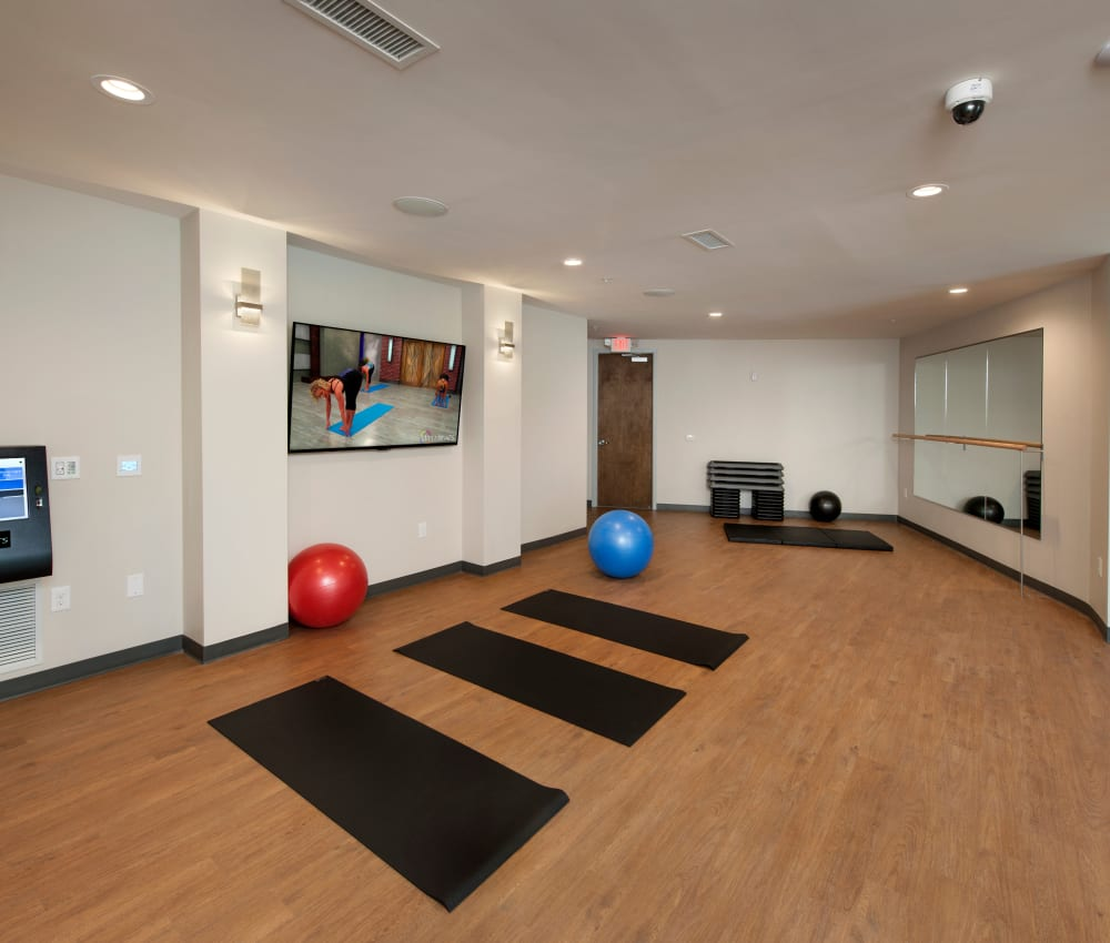Yoga room at City View Vinings in Atlanta, Georgia