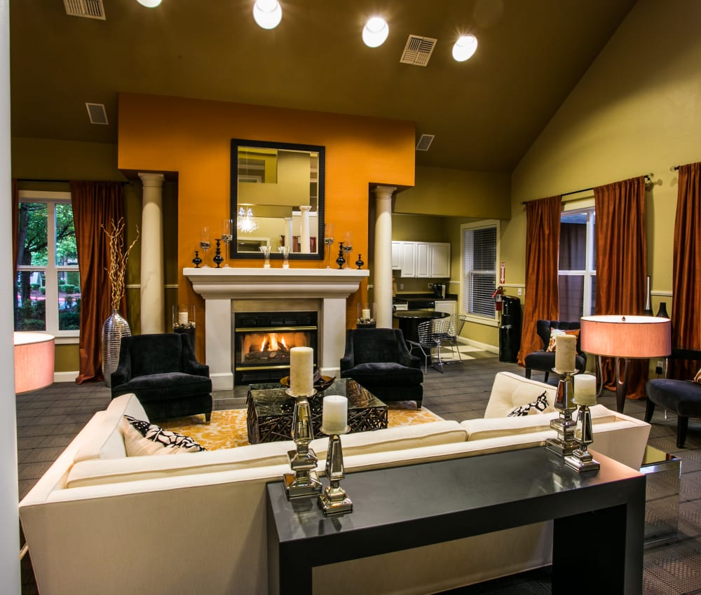 Clubhouse for residents at The Colonnade Luxury Townhome Rentals in Hillsboro, Oregon
