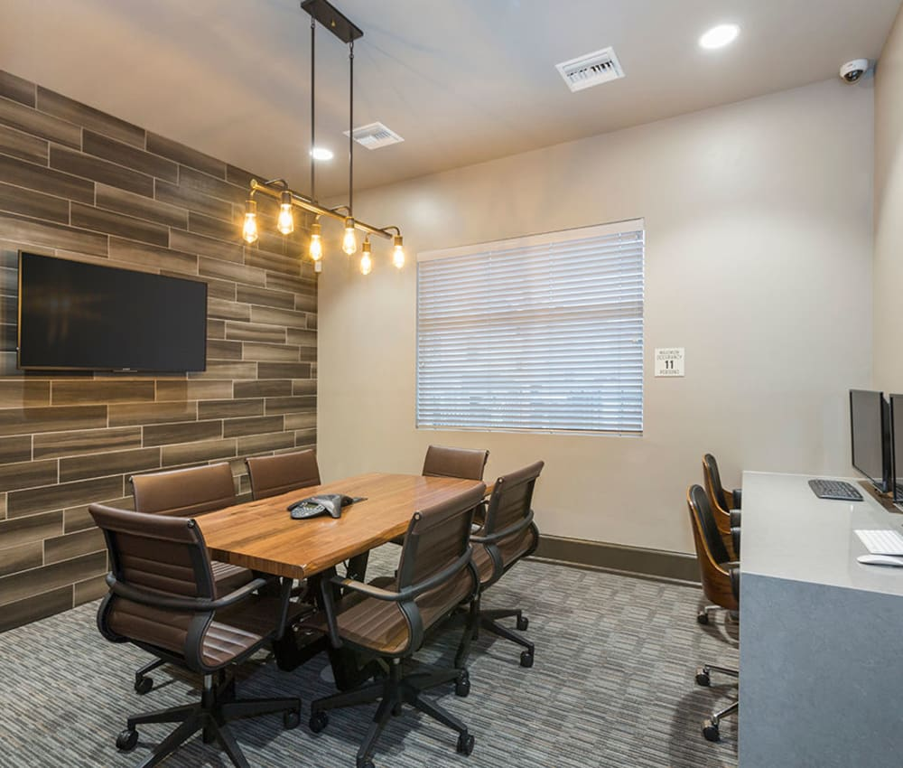 Business Center for residents at The Overlook at Interquest in Colorado Springs, Colorado
