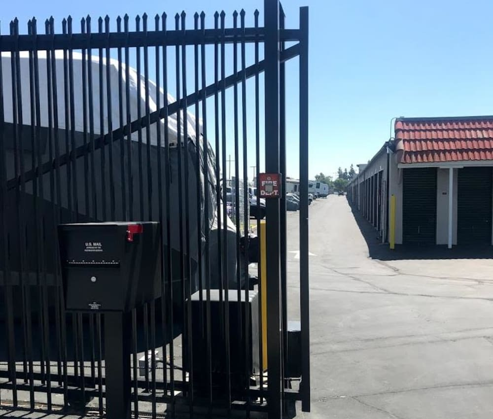 Security entrance at Storage Solutions in Pomona, California
