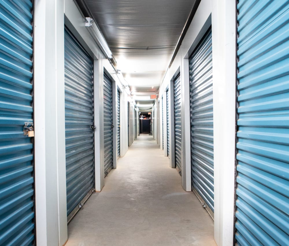 Indoor self storage units for rent at AAA Self Storage of Thomasville in Thomasville, NC