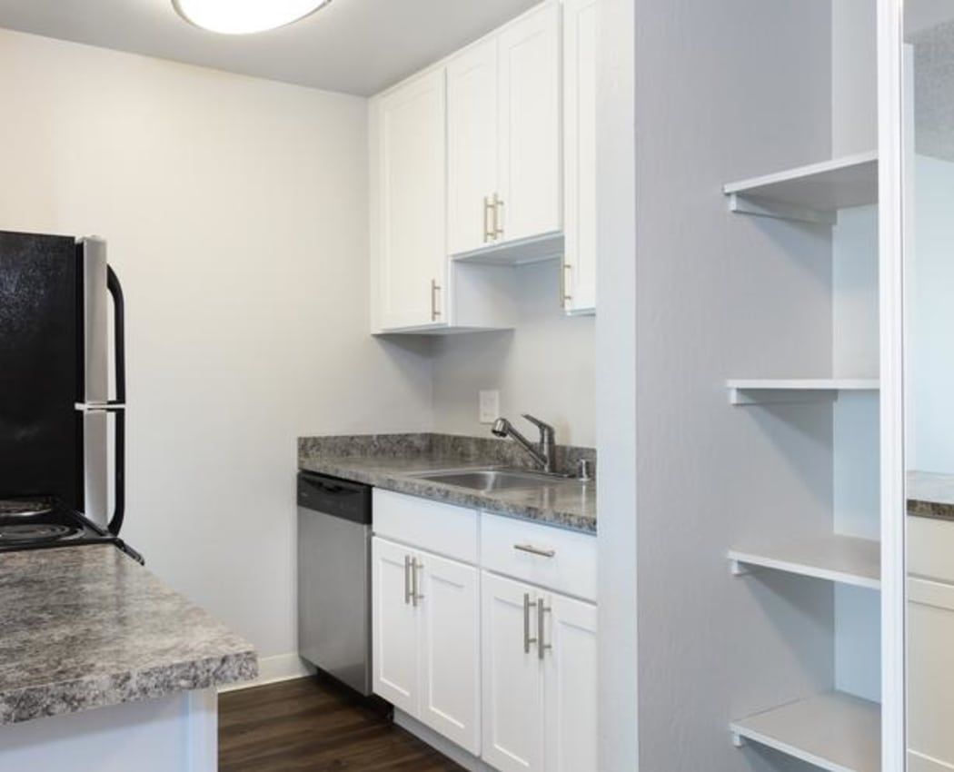 Spacious Kitchen at Skyline Heights Apartments