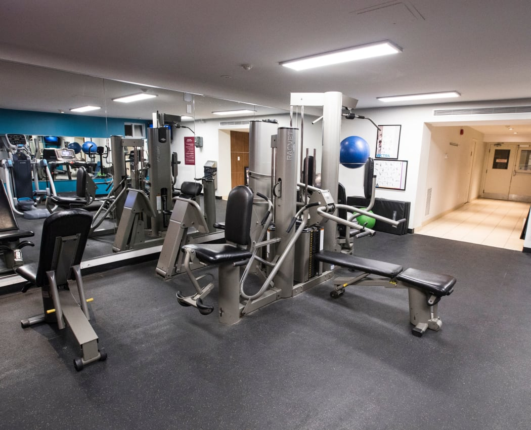 Modern fitness center at Bayview Mews in North York, Ontario