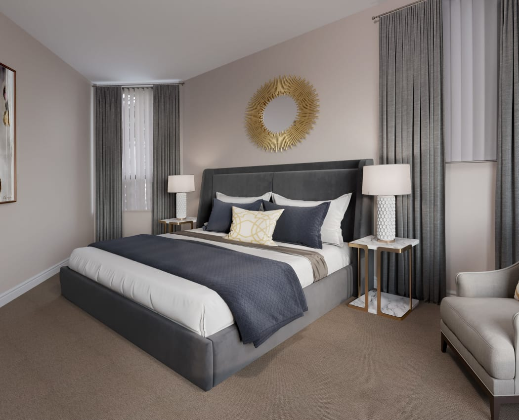 Master bedroom at The Galleria in North York