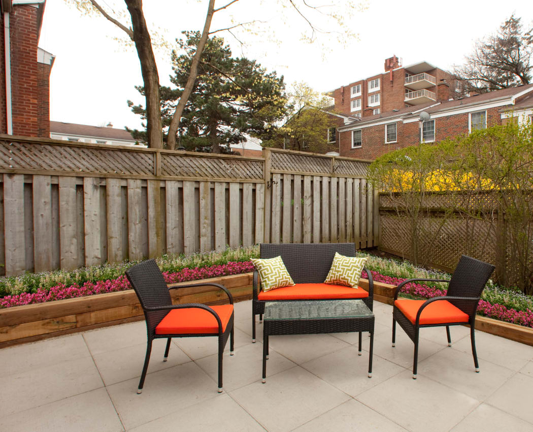 Wonderful patio area at Lion's Gate in Etobicoke