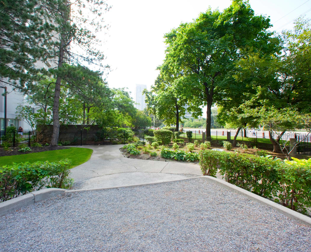 Beautiful landscaping at Mississauga Place in Mississauga