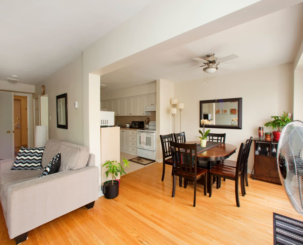 Spacious interiors at apartments in Cloisters of the Don, Ontario