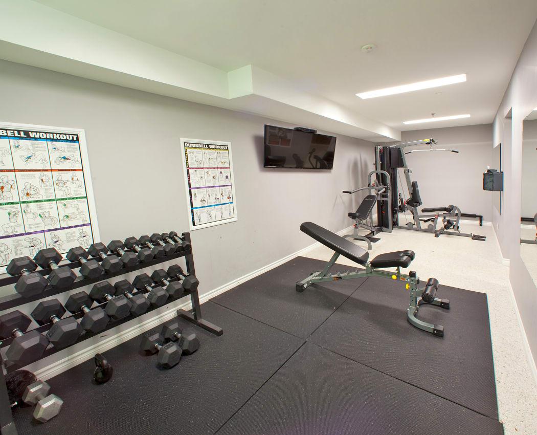 StoneCrest Village fitness area