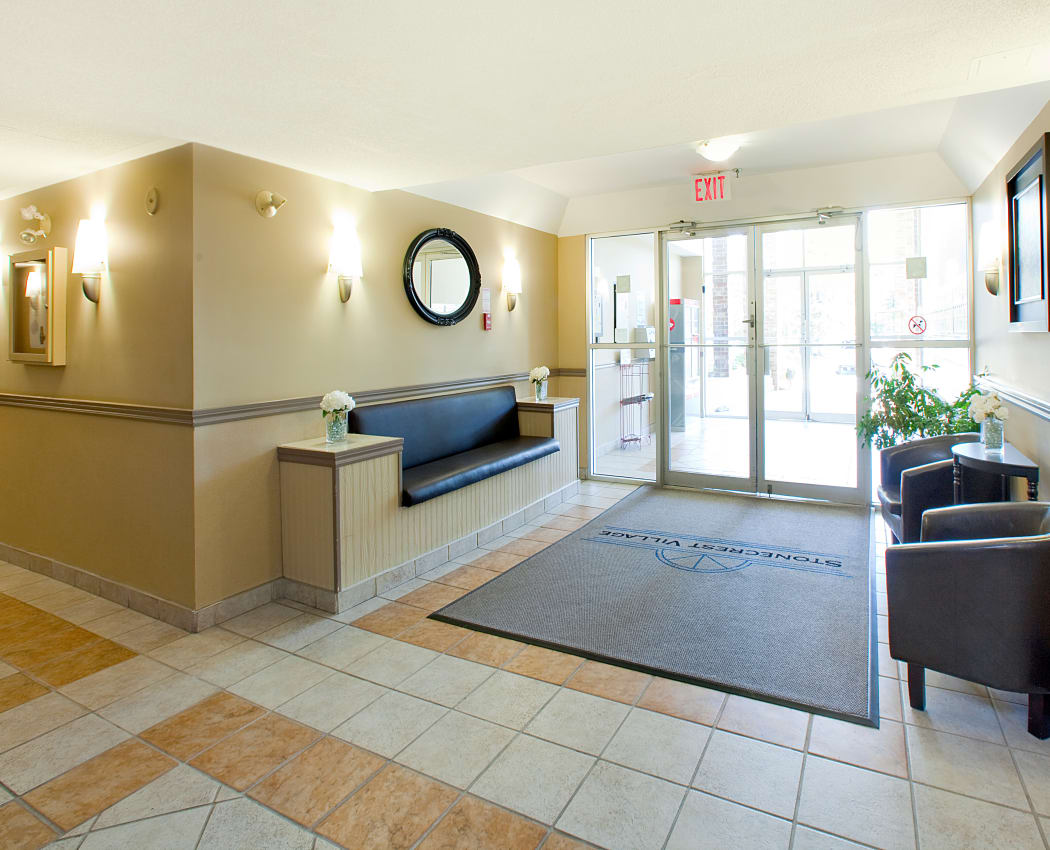 Lobby area at StoneCrest Village in Halifax