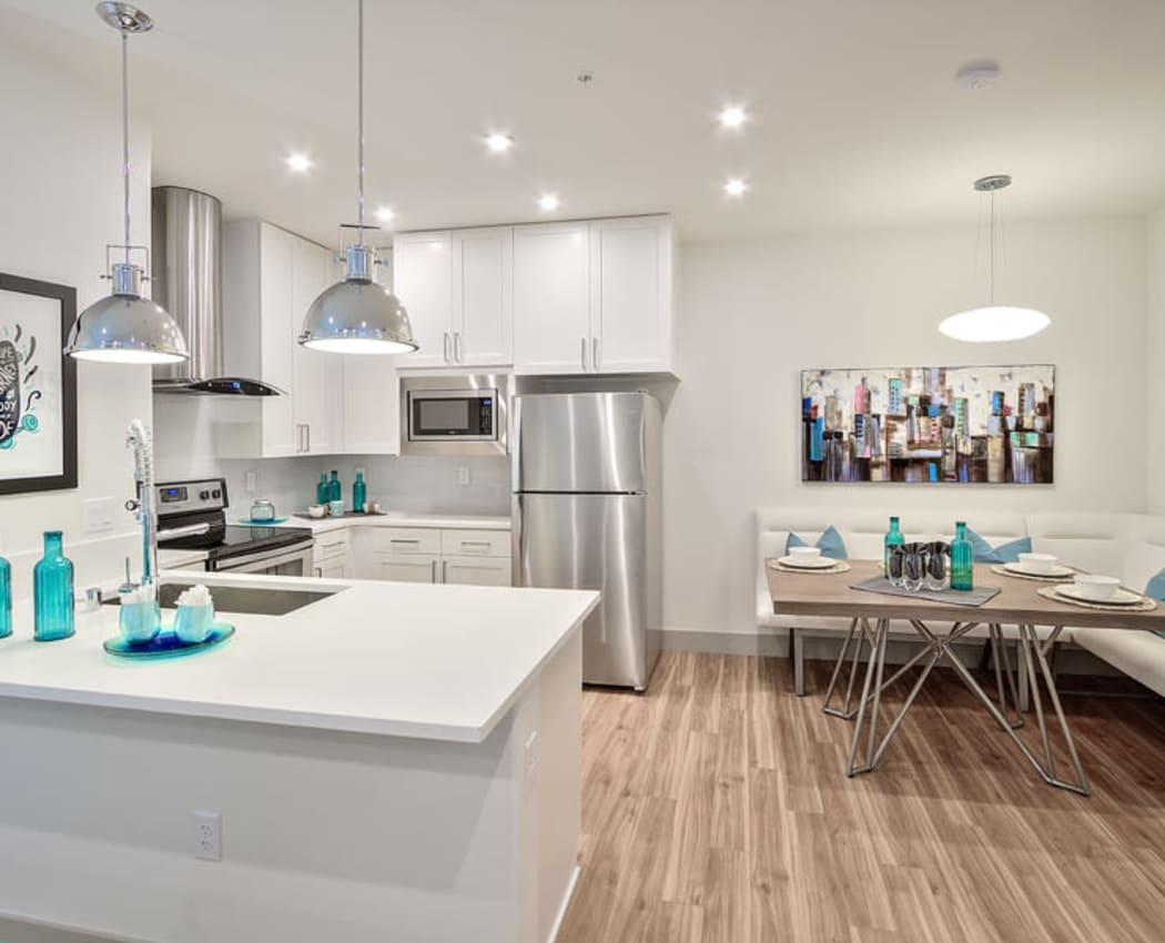 Spacious kitchens at SUR702 in Las Vegas, Nevada.
