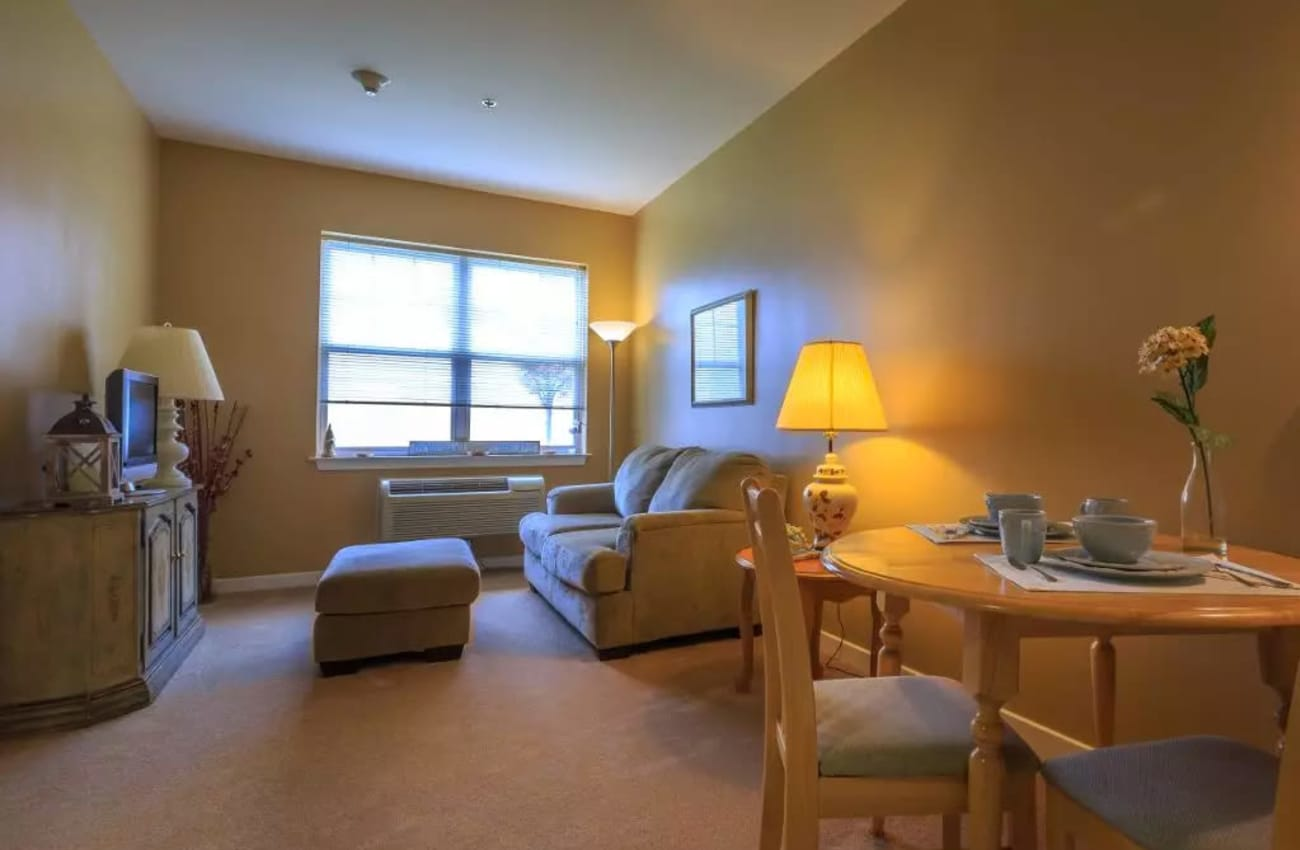 Interior view of senior apartment at Mattison Crossing at Manalapan Avenue in Freehold, New Jersey