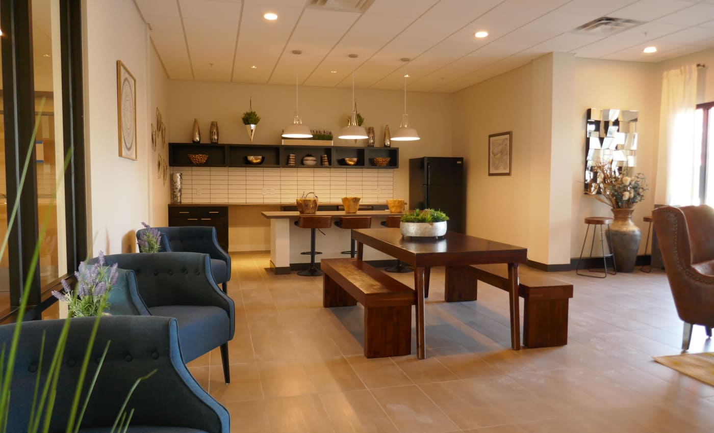 Lavish resident clubhouse interior at ALTO in Westminster, Colorado