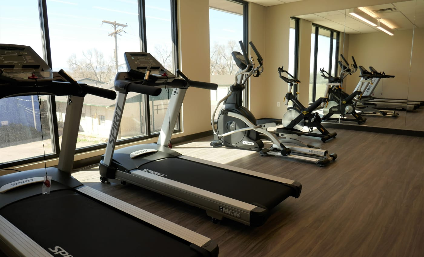 Treadmills and more for residents in the fitness center at ALTO in Westminster, Colorado
