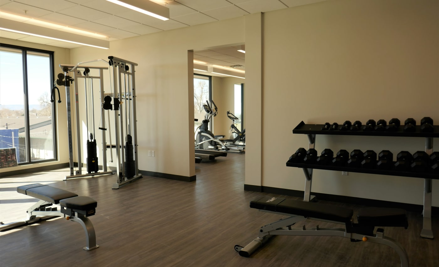 Well-equipped fitness center at ALTO in Westminster, Colorado