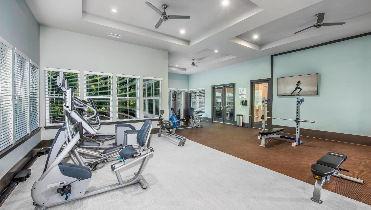 Well-equipped fitness center at Canopy at Citrus Park in Tampa, Florida
