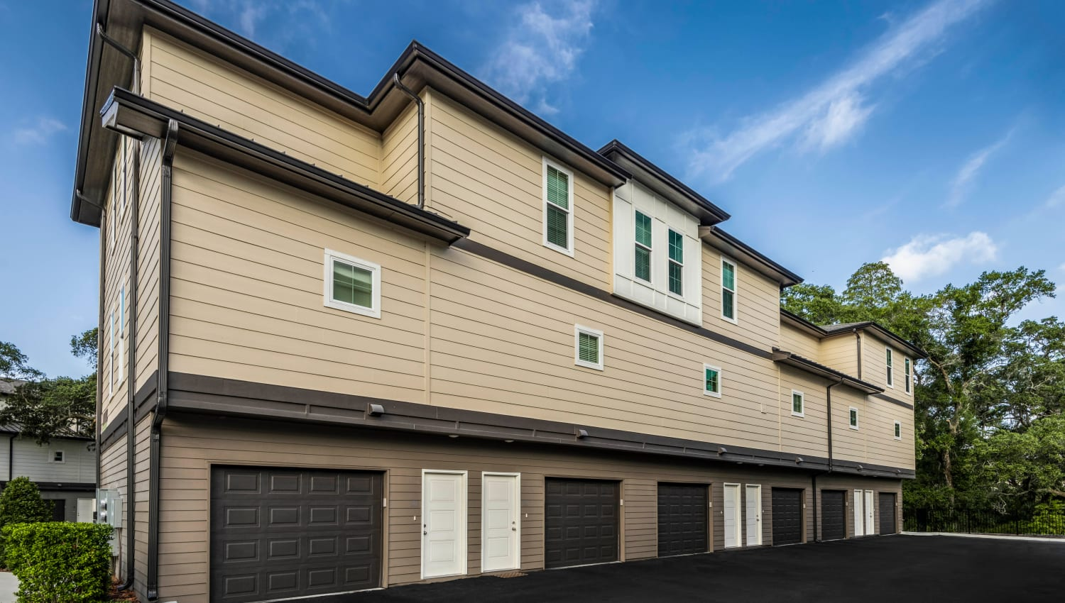 Private garages available at Canopy at Citrus Park in Tampa, Florida