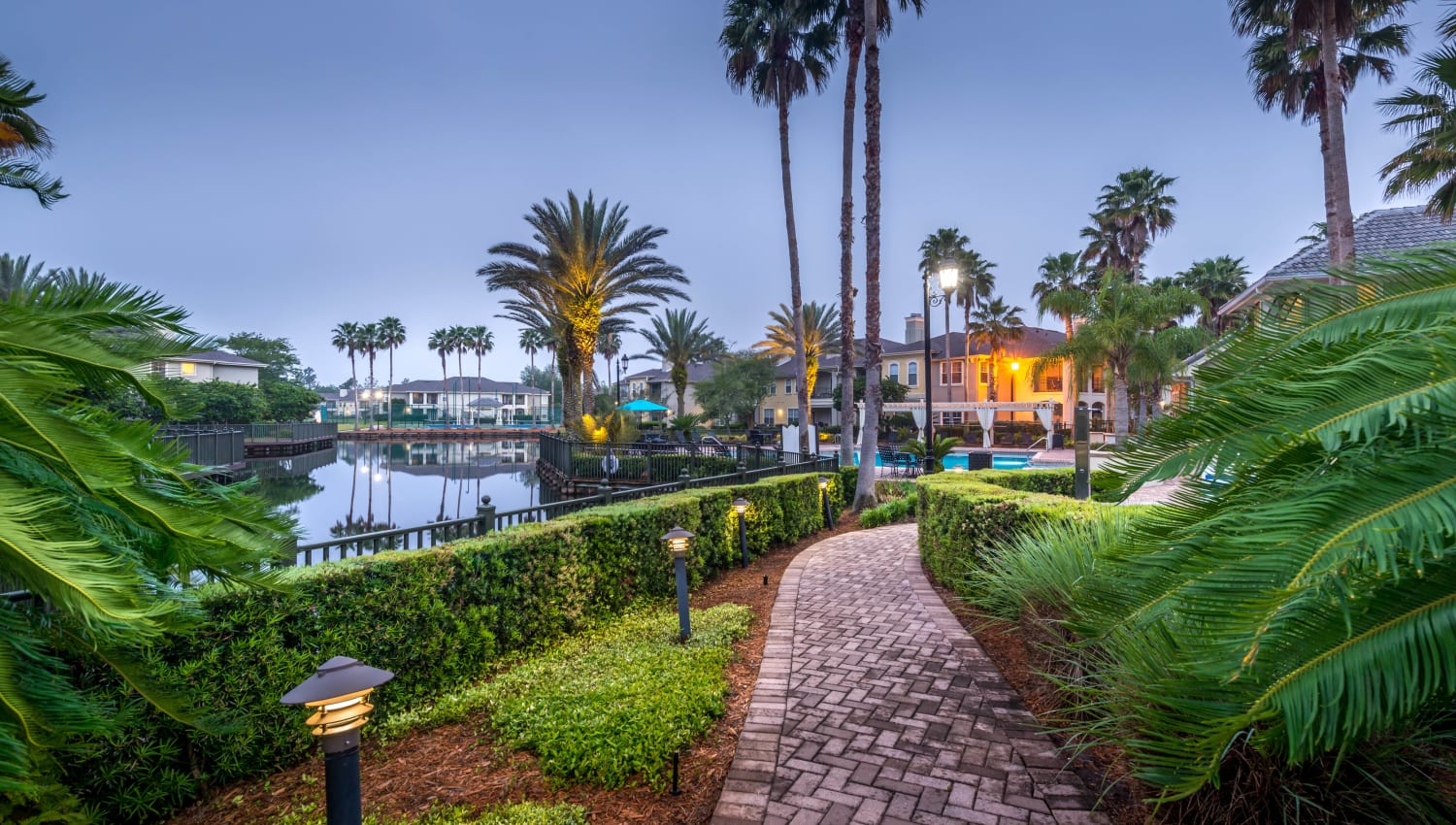 Professionally maintained landscaping throughout our luxury community at Cape House in Jacksonville, Florida
